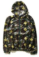Top Fashion Men's camo Bape Wind Breaker Hoodie Aape SpongeBob Cartoon Jacket