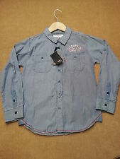Levis Boys Navy Stripped Long Sleeved Shirt Size 8 & 10 Yrs BNWT