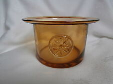 DARTINGTON CRYSTAL FLOWER BOWL CLEMATIS AMBER COLOURED GLASS 9cm TALL BRAND NEW