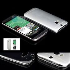 0.2mm ULTRA THIN CLEAR TPU GEL SOFT Rubber Back Cover Case Skin For HTC Phones