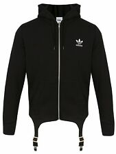 Adidas Originals ObyO Jeremy Scott JS Black Classic Hoodie with Trousers Brace