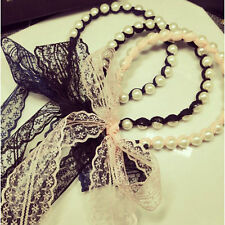 Women Girls Lace Pearl Hair Band Headband Hairband Accessories Fashion Head Band