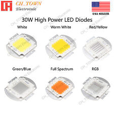 30W watts High Power SMD LED Chip Lamp Beads White Red Blue Green RGB UV Light