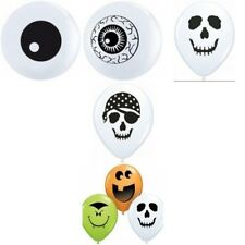"""100 Qualatex Halloween 5"""" Assorted Design Air Fill Balloons Party"""