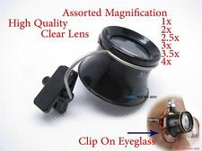 Plastic Clip On Eyeglass Eye Loupe Magnifier Clamp Spectacle Watch Jewelry Tool