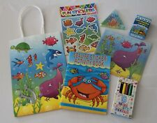 Sealife / Under the sea themed children's party bags - pre-filled