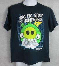 Angry Birds Boys T-Shirt New Navy King Pig Stole My Homework Officially Licensed