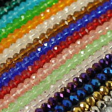 70 FACETED RONDELLE Swarovski CRYSTAL GLASS BEADS 8MM PICK COLOUR