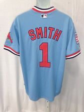 St. Louis Cardinals Baseball Smith Cooperstown Collection Sewn Jersey Light Blue