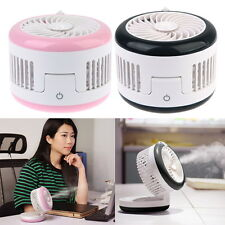 USB Rechargeable Indoor Air Cooler Water Spray Misting Fan Humidifier Destop