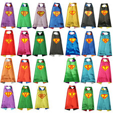 70cm - INITIAL Letter Superhero capes Personalized Cape for kids birthday party