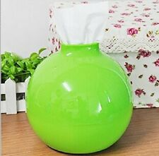 Plastic Round Bomb Tissue Box Holder Rolls Napkin Paper Pot Dispenser Cover Case