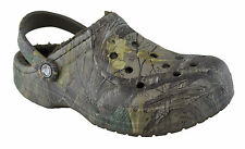 Crocs Baya Fuzz Lined Realtree Xtra Clog Chocolate/Chocolate Various Sizes