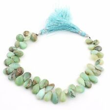 """1 Strand Peru Opal Pear Drop Faceted Beads Beiolettes 11x8mm-14x7mm 8.5"""" PB229"""