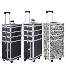 New Interchangeable Aluminum Rolling Makeup Case Cosmetic Train Box Trolley H3L1