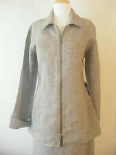 NWT VINTAGE  Engelhart Flax MOSSY TWEED HEAVY METAL LINEN JACKET TUNIC MINI COAT