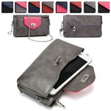 Womens Fashion Smart-Phone Wallet Case Cover & Crossbody Purse EI64-5