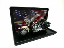 Franklin Mint Harley Davidson Heritage Softail Classic Motorcycle 1:10 W/Case