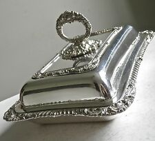 Antique Ornate Silver Plated Lidded Serving Dish Alex Clark London