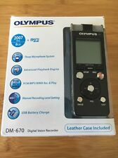 Olympus Digital Voice Recorder/ Dictaphone DM-670 With Olympus Zoom Microphone