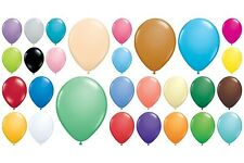 "25  Qualatex Standard Finish Helium Quality 11"" Latex Balloons Choose Colour"