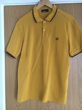 Men's Fred Perry Polo Shirt Yellow/mustard Large