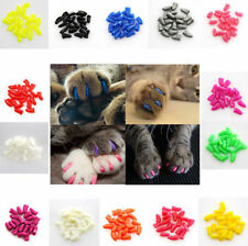 20Pcs Soft Rubber Pet Dog Cat Kitten Paw Claw Nail Caps Cover Shell Protector