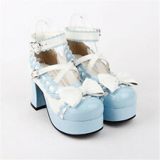 Classic Tea Party Lolita Princess Shoes Sweety Lovely Bowknot High-heeled Shoes