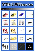 R/C Syma S107 S107G Remote Radio Control 3CH Helicopter Spare Parts Accessories