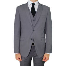 Grey Semi Slim Fit 3 Piece Suit