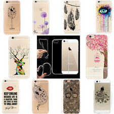 Fashion Pattern Crystal Soft Silicone TPU Case Cover For iPhone 6S 6 plus 5S SE