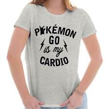 Funny Humorous Pokemon GO is my Cardio Humorous Graphic Gamer Ladies T-Shirt