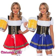 Ladies Beer Maid Oktoberfest Costume Gretchen German Heidi Wench Fancy Dress