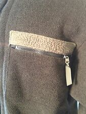 Vintage Patagonia Charcoal gray Fleece Jacket Mens Full zip L USA thick inside