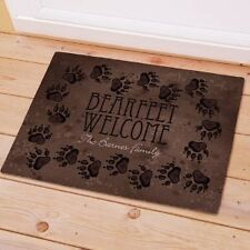 Personalized Bear Feet Doormat Cabin Family Name Welcome Door mat Bearfeet Mat