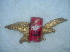 "MILLER MALT LIQUOR STORE DISPLAY SOARING EAGLE BEER CAN 18.5"" WIDE"