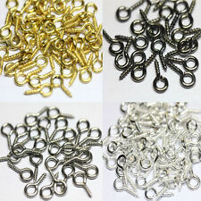 200pcs Small Tiny Screw Eye Pin Peg Tail Jewelry Making Findings Craft 8x3.5mm