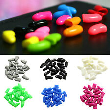 20Pcs Simple Colorful Soft Rubber Pet Dog Cat Kitten Paw Claw Nail Caps Cover