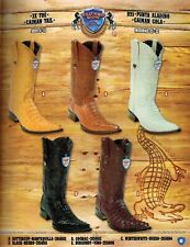 Wild West Men's XXX-Toe Caiman Tail Cowboy Western Boots Diff. Colors