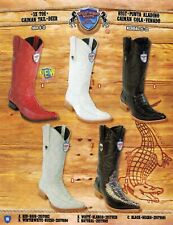 Wild West Men's XXX-Toe Caiman Tail/Deer Cowboy Western Boots Diff. Colors