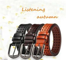 Women Cow Genuine Leather Hollow Fashion Desinger Belts Pin Buckle