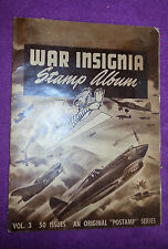 COMPLETE SHEET 50 Diff. WWII War Insignia Stamp Album Vol3 TO THE FLYING TIGERS
