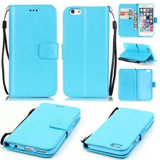 Blue Color Embossed butterfly leather Wallet Flip Stand case cover for Phones