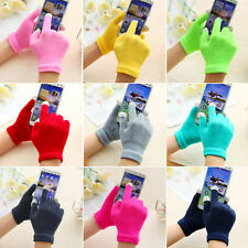 1 Pair X Full finger Winter Unisex Touch Screen Glove Warm Smartphone Knit Hot