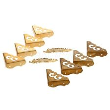 4X Corners Hardware Brass for Cabinet Trunk Jewelry Box Chest Chinese Furniture