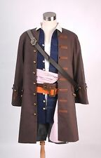Pirates of the Caribbean Jack Outfit Sparrow Costume Cosplay Set Halloween