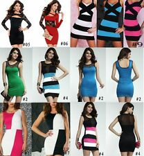 Sexy Lady Women Lace Hollow Sheer Club Party Cocktail Clubwear Bodycon Dress