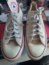 UNISEX VINTAGE ALL STAR CONVERSE LOW TOPS CREAM COLOR MADE IN USA