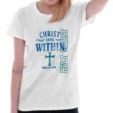 Christ Lives Within Christian T Shirts Jesus Christ Gift Ideas Ladies T-Shirt