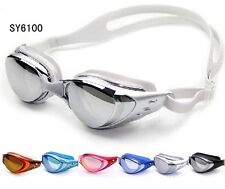 Adult Mirror Coated Goggles Adjustable Anti-Fog UV Protection Swim Goggle Glass
